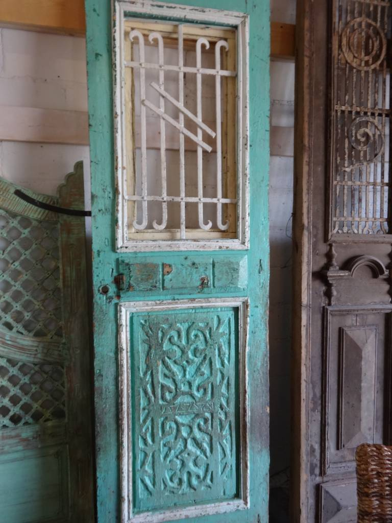 Aqua Iron Egyptian Door set