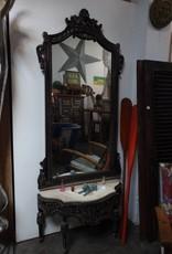 Black Small Table w/ Mirror