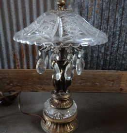 Brass and Crystal Vintage Lamp