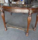 Crescent Mahogany Console Table