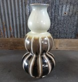 Brown and White Bubble Vase