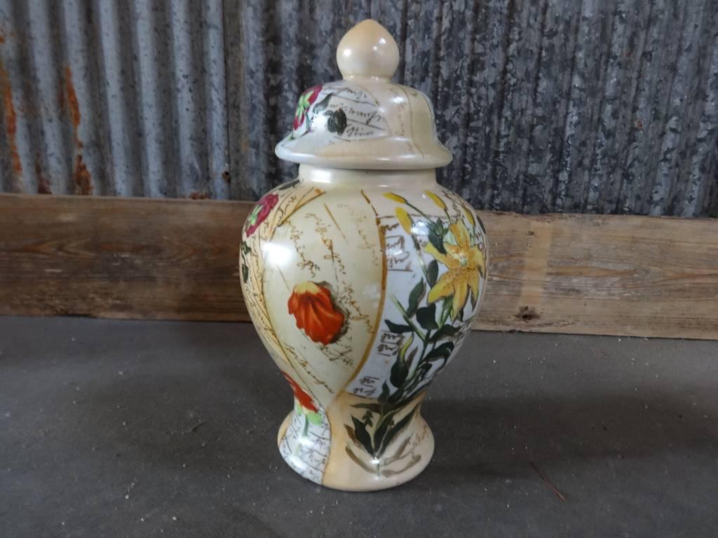 Floral 2 Piece Vase