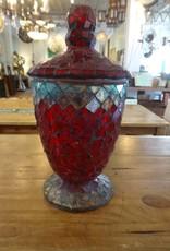 Small Mosaic Glass Urn