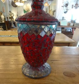 Small Mosaic Glass Urn