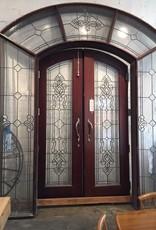 Grand Leaded Glass Door Surround
