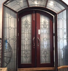 Grand Leaded Glass Door Surround