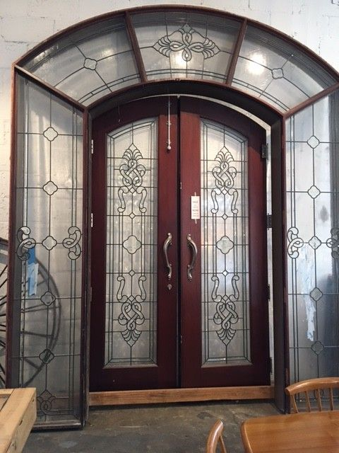 Grand Leaded Glass Door Surround Sarasota Architectural Salvage