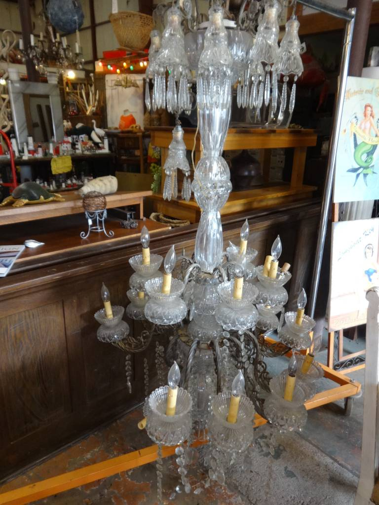 Antique Huge Crystal Chandelier