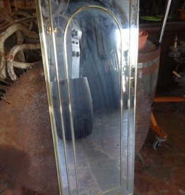 48X18 Brass Framed Mirror w/ Arch
