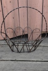 Medium Wire Iron Oval Egg Basket 14x15
