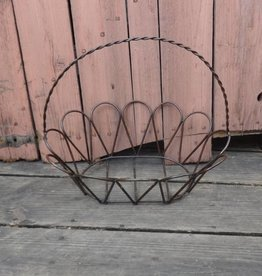 Large Wire Iron Oval Egg Basket 14x17
