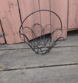 Small Wire Iron Round Egg Basket 12x12