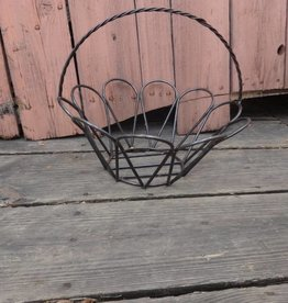 Medium Wire Iron Round Egg Basket 14x12