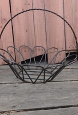 Large Wire Iron Round Egg Basket 14x17