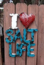 I Love Salt Life Tin Sign 22x15