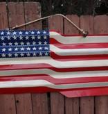 American Flag Tin Sign 24x44