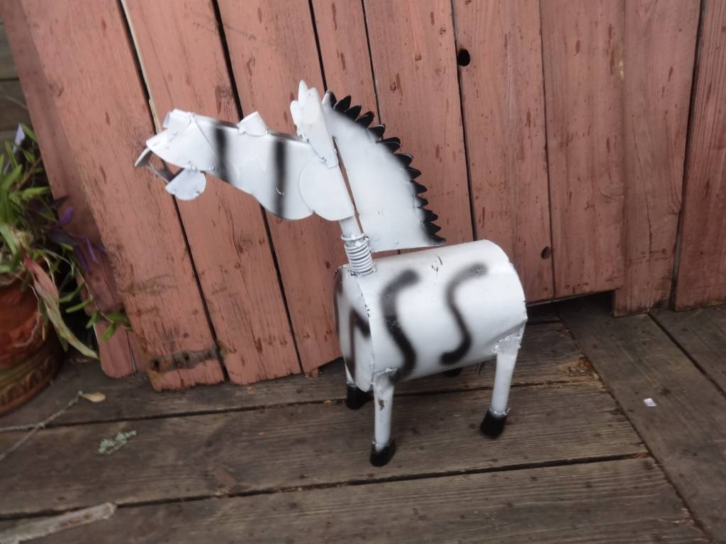 Large Wild Tin Zebra 25""
