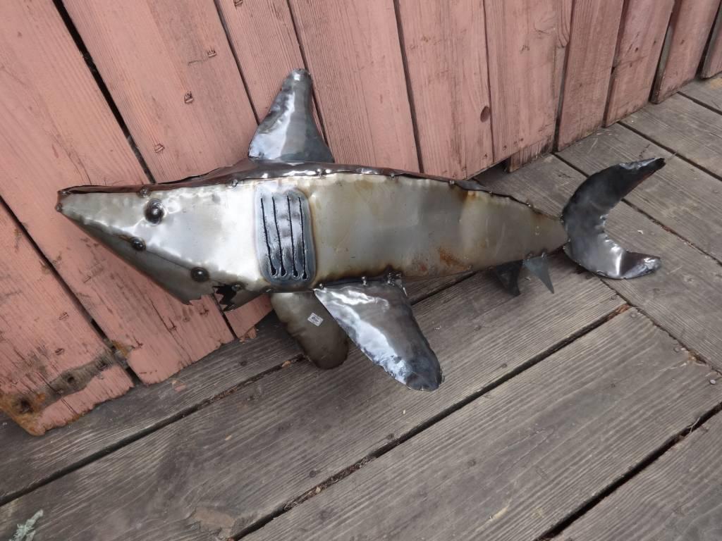 Small Tin Shark 17x37