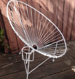 Wire Iron Egg Chair w/ Cup Holder