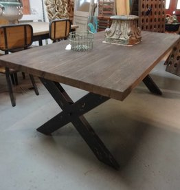 Pine Dining Table X Trestle Base 30x78x38