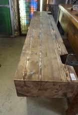 Distressed Hewn Pine Console Table 30x72x15