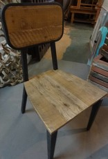 Pine Modern Side Chair w/ Iron Base