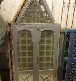 Egyptian Shutter Window w/ Triangle Transom