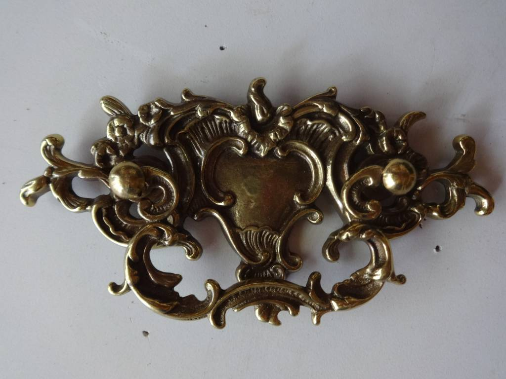 "Ornate Brass Drawer Pull 3""x6"""