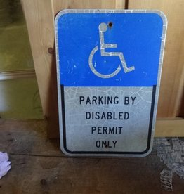 Disabled Parking Metal Sign 12x18
