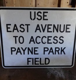 Payne Park Access Metal Sign 30x24