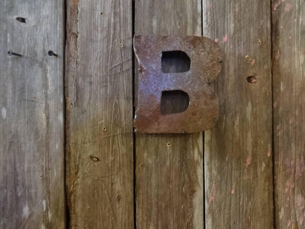 """5"""" Tin Letter B"""