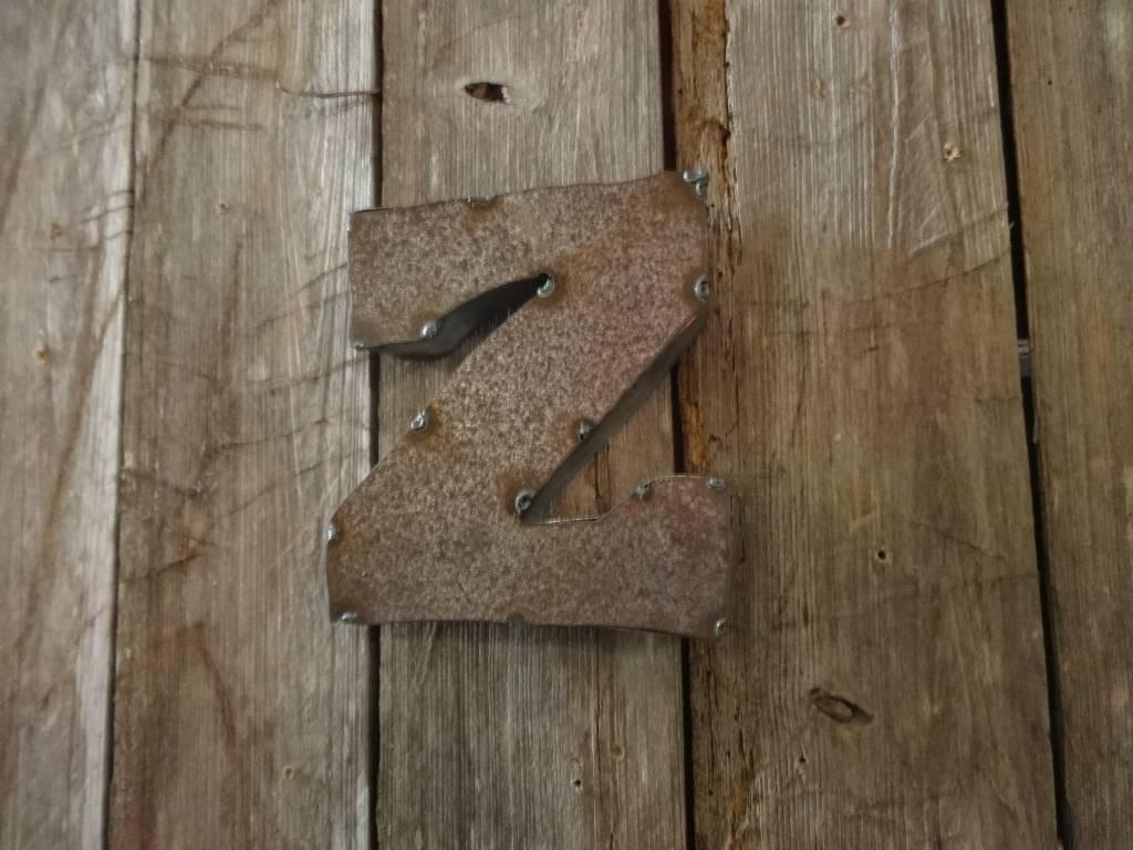 """5"""" Tin Letter Z"""