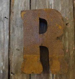 """10"""" Tin Letter R"""