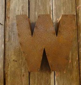 """10"""" Tin Letter W"""