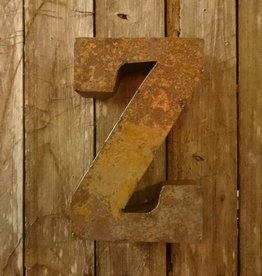 """10"""" Tin Letter Z"""
