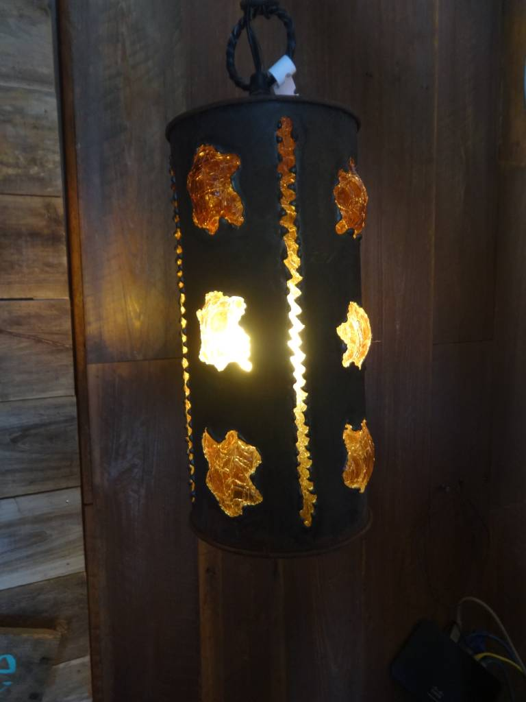Cylinder Crackled Bubble Chandelier