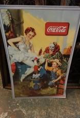 Coca Cola Vintage Cardboard Poster