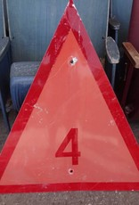 "Triangle Metal Channel Marker Sign 36""x36"""