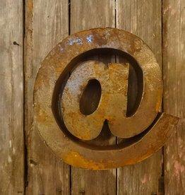 """10"""" Tin @ Symbol"""