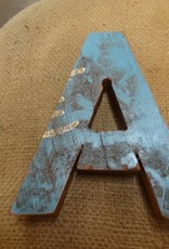 """7"""" Teak Boat Letter A"""