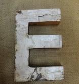 """7"""" Teak Boat Letter E"""