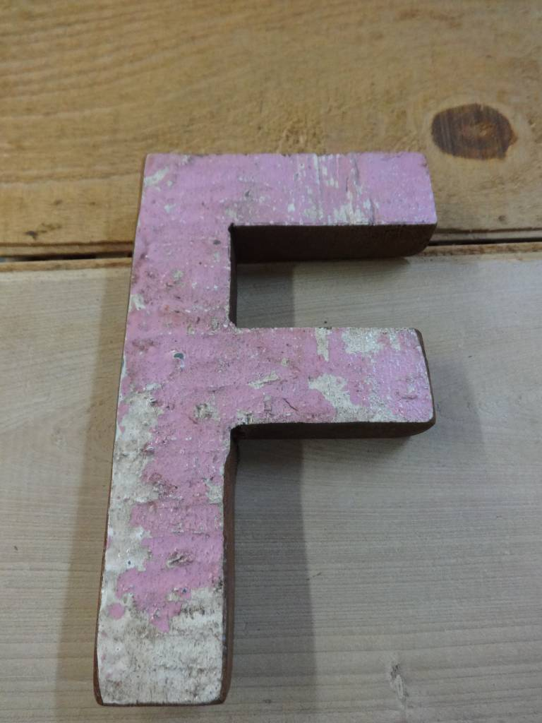"7"" Teak Boat Letter F"