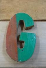 """7"""" Teak Boat Letter G"""