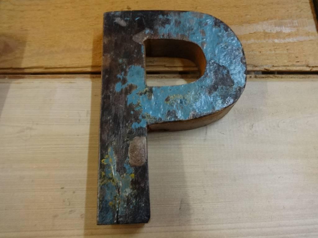"""7"""" Teak Boat Letter P"""