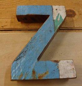 "7"" Teak Boat Letter Z"