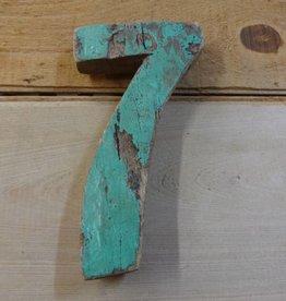 """7"""" Teak Boat Number 7"""