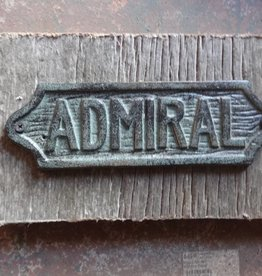 Admiral Iron Plaque on Wood
