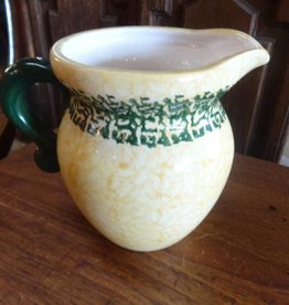 Yellow and Green Ceramic Pitcher