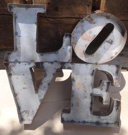 Love Park Tin Sign 24x24