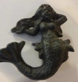 Antique Green Sitting Mermaid